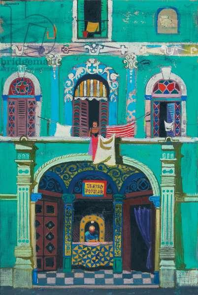 Teatro Popolar, Old Havana (oil on canvas)