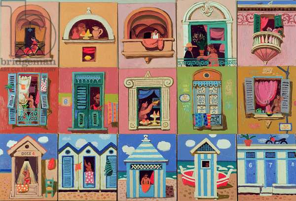 Balconies, Windows and Beach Huts, 2003 (oil on canvas)
