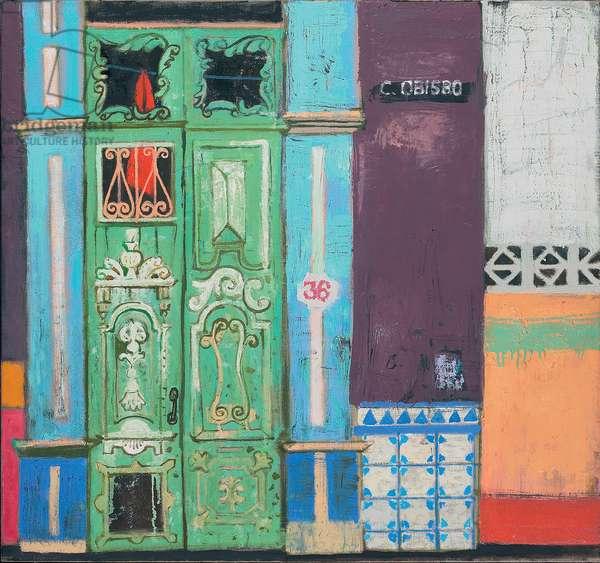 Door in Calle Obisco (oil on canvas)