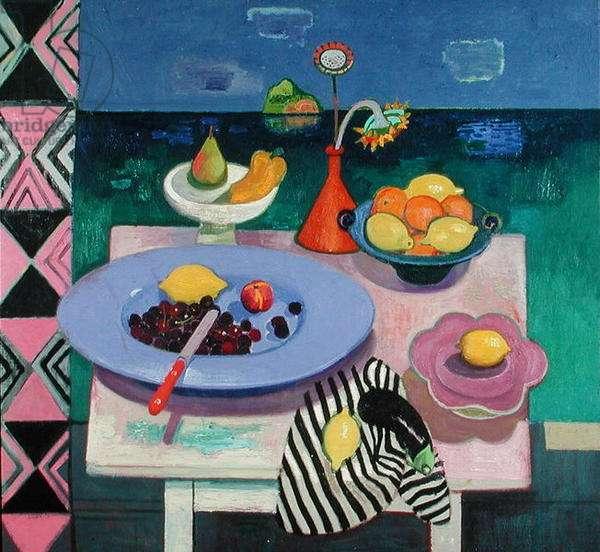 Still life and Panavea (oil on canvas)