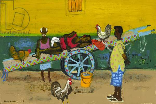Sleeping Market-Worker, 2009 (oil on canvas)