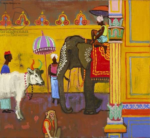 Temple Elephant, 2009 (oil on canvas)