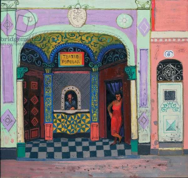 Old Theatre, Old Havana (oil on canvas)