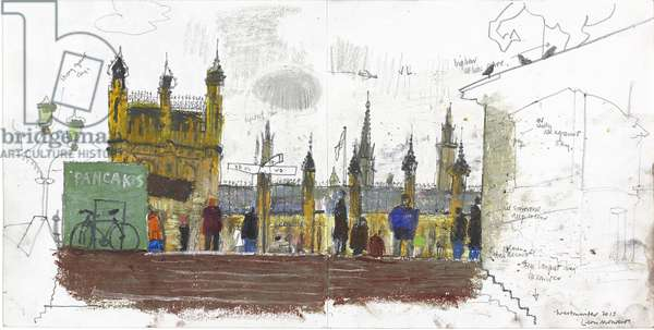 Westminster Study, (pastel and pencil on paper)