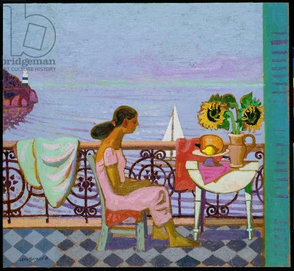 Girl on Balcony, 1996 (oil on canvas)