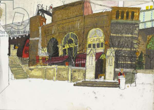 Rail Arches at Borough Market First, (pastel on paper)