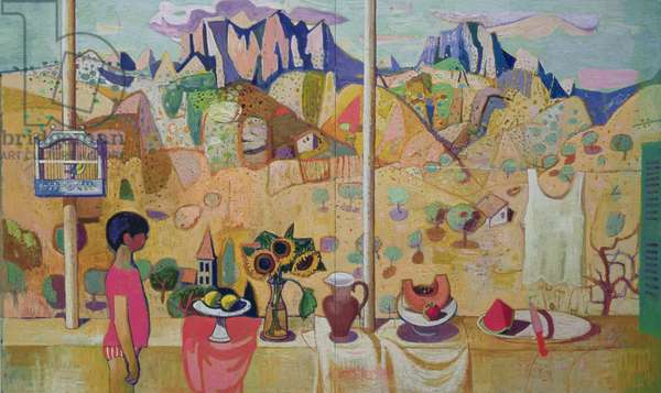 The Patio at Noon, 1996 (oil on canvas)