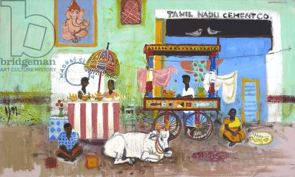 Market, Tamil Nadu (oil on canvas)