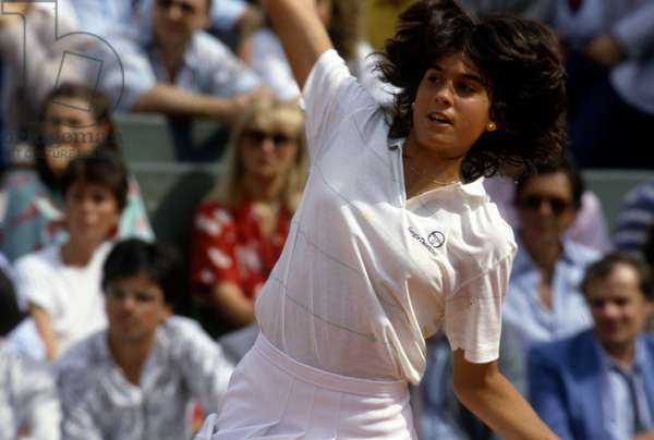 Tennis Champion Gabriela Sabatini Roland Garros
