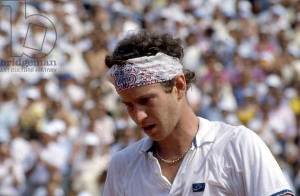 Tennis Champion john McEnroe At Roland Garros Tournament