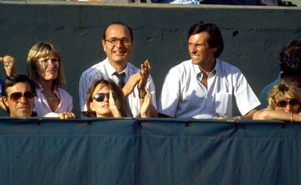 Jacques Chirac at the Roland Garros tournament