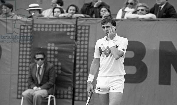 Ivan Lendl in the French Open tennis tournament, Rolland-Garros, Paris, France, 1983