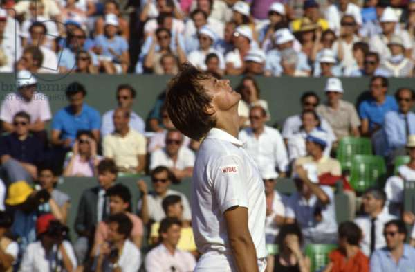 Tennis Champion Henri Leconte At Roland Garros Tournament