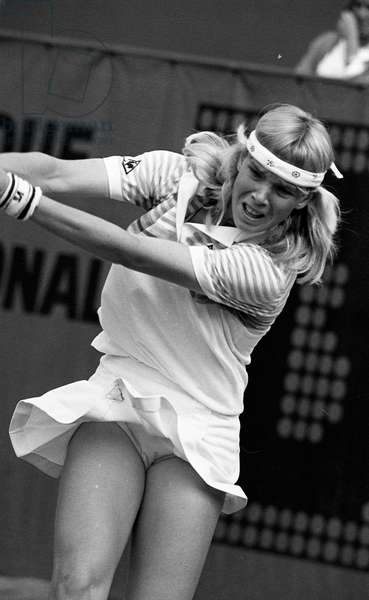 Catherine Tanvier number one french tennis at Roland Garros tennis tournament, Paris, France, 1983