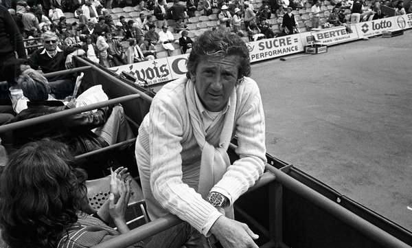 Daniel Cauchy french actor during roland-Garros tennis tournament, Paris, France, 1983.