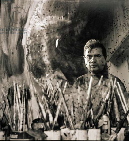 Francis Bacon, 1963 (b/w photo)