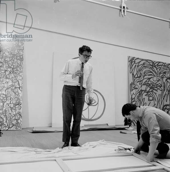 Bernard Cohen, 1963 (b/w photo)