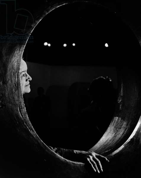 Dame Barbara Hepworth, 1968 (b/w photo)