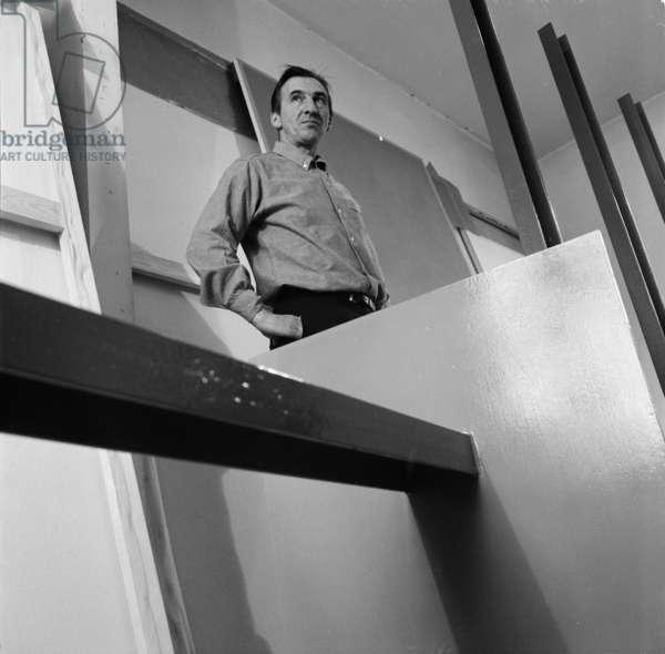 William Turnbull, April 1967 (b/w photo)