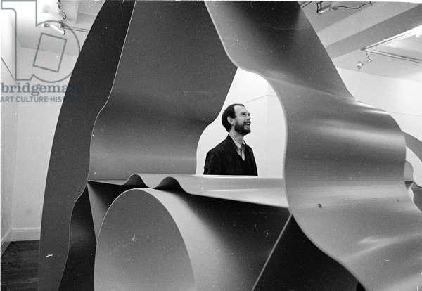 David Annesley, 1968 (b/w photo)