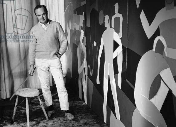 Keith Vaughan, 1963 (b/w photo)