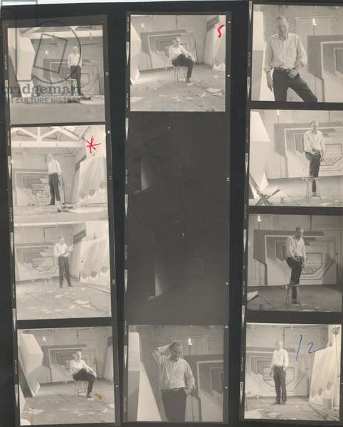 Richard Smith, contact sheet, 1963-76 (b/w photo)