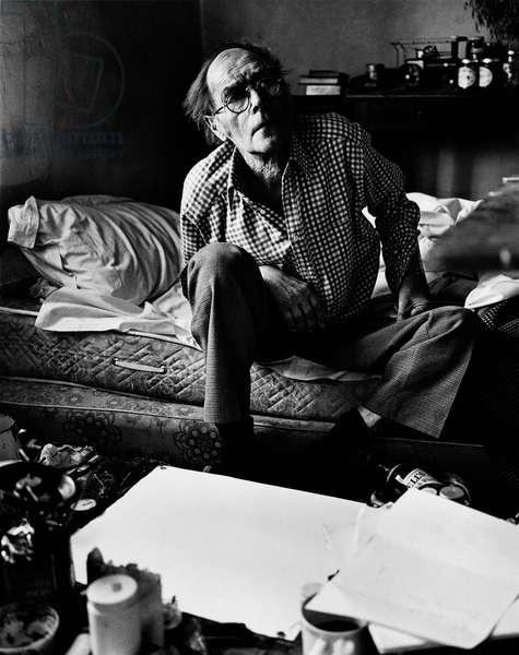 Roger Hilton, 1973 (b/w photo)