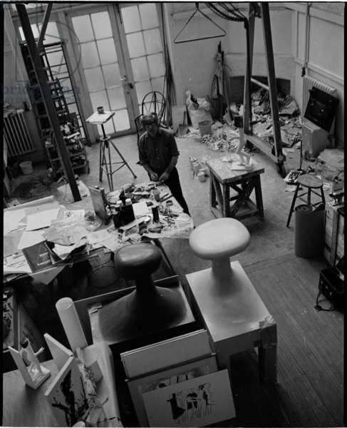 Kenneth Armitage, May 1975 (b/w photo)