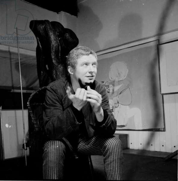 Brett Whiteley, 1964 (b/w photo)