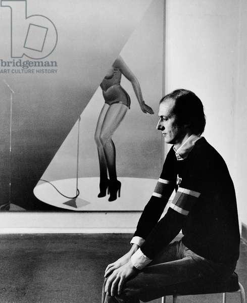 Allen Jones, 1976 (b/w photo)