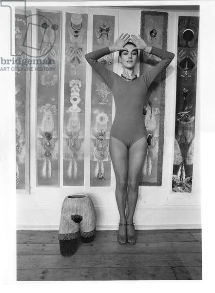 Penny Slinger, 1977 (b/w photo)