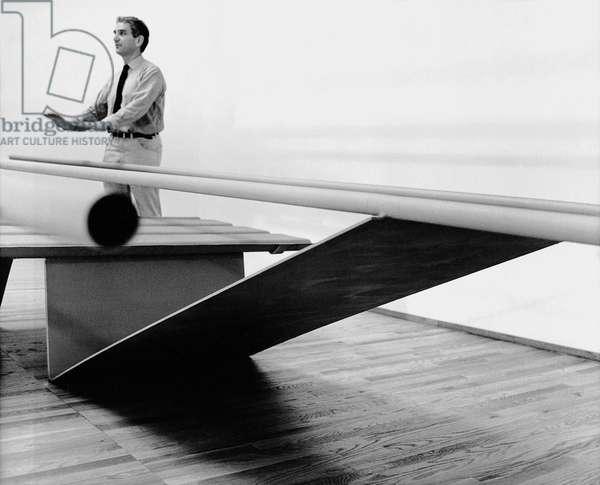 Antony Caro, 1963 (b/w photo)