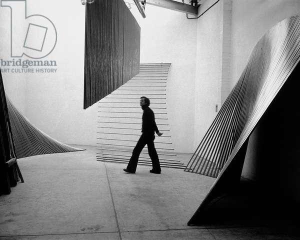 William Pye, 1974 (b/w photo)