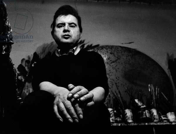 Francis Bacon, 1966 (b/w photo)