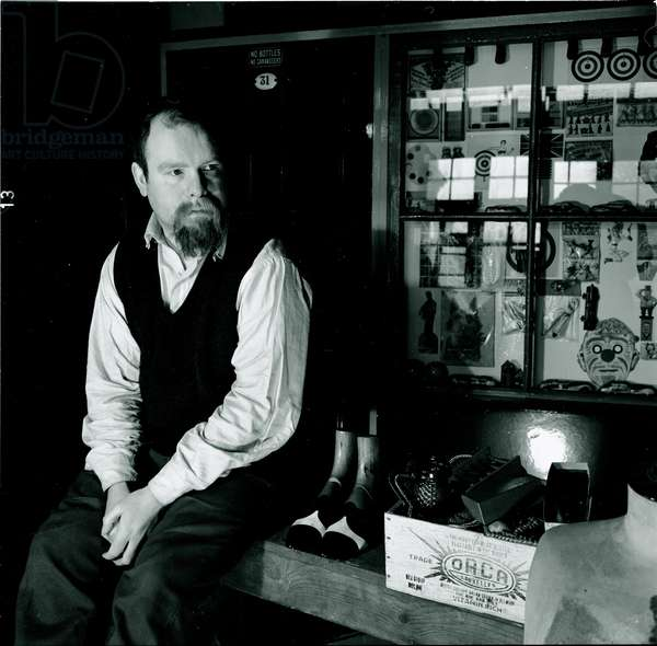 Peter Blake (b/w photo)