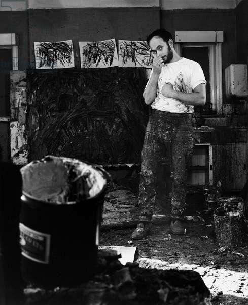 Leon Kossoff, 1971 (b/w photo)