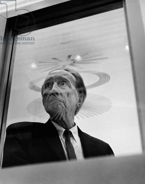 Marcel Duchamp, 1966 (b/w photo)
