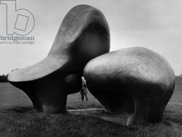 Henry Moore, 1963 (b/w photo)