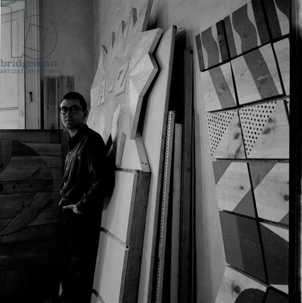Joe Tilson, 1963 (b/w photo)