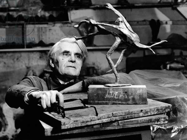 Leon Underwood, 1963 (b/w photo)