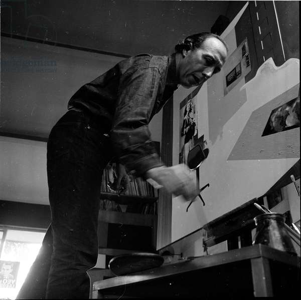 Richard Hamilton, 1969 (b/w photo)