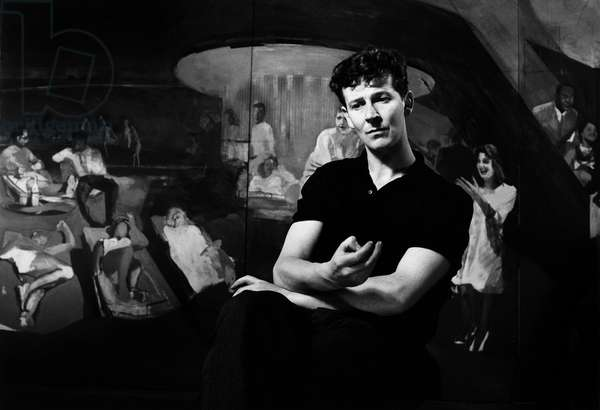 Michael Andrews, 1963 (b/w photo)