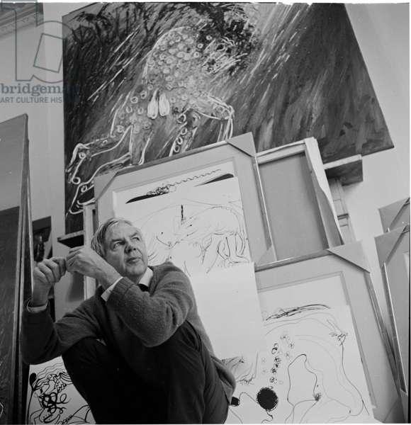 Arthur Boyd, 1969 (b/w photo)
