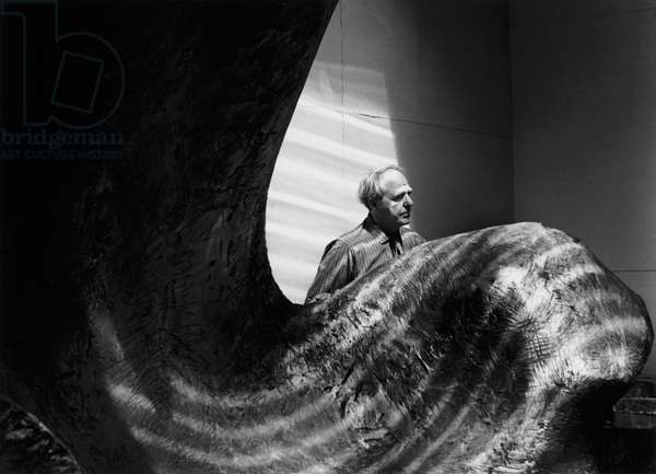 Henry Moore, 1975 (b/w photo)