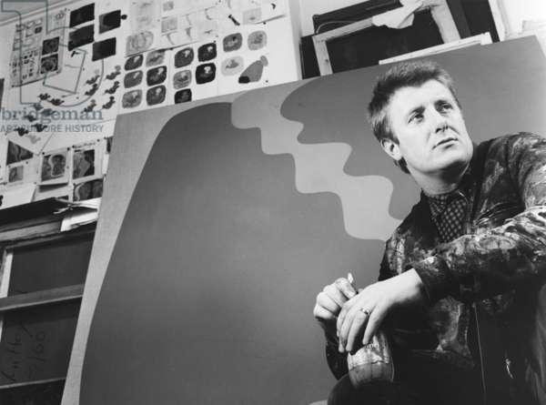John Hoyland, 1964 (b/w photo)