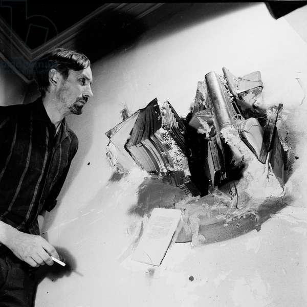 John Latham, 1964 (b/w photo)