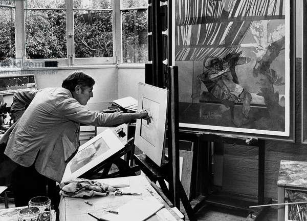 Leonard Rosoman, 1974 (b/w photo)