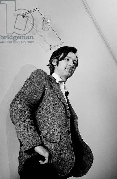 Michael Craig-Martin, 1974 (b/w photo)