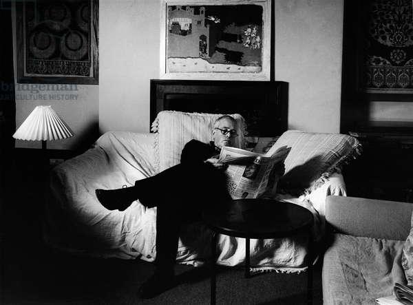 Howard Hodgkin, 1987 (b/w photo)