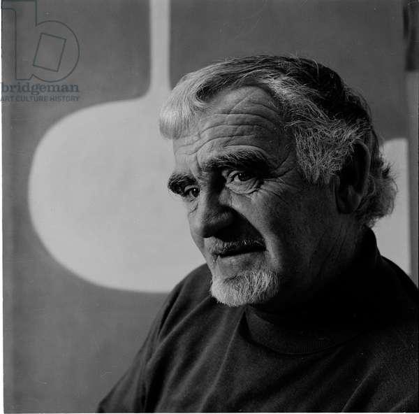 William Scott, 1972 (b/w photo)